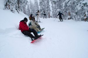 Troops enjoy the slopes of monarch mountain.