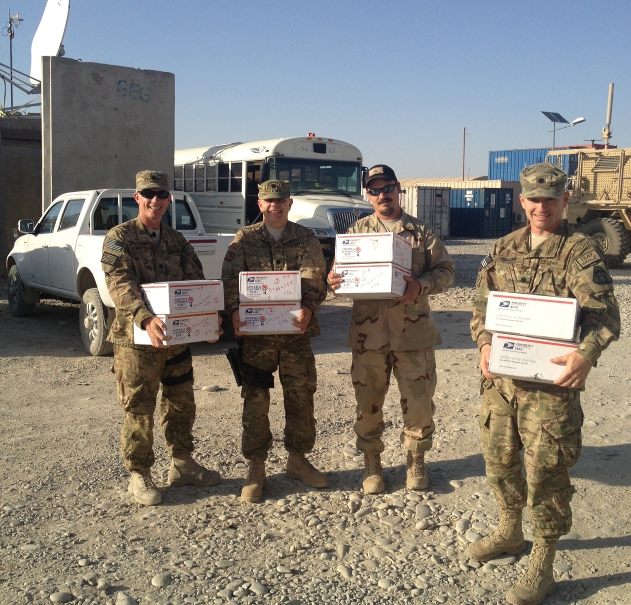 Soldiers receive care packages from Freedom Alliance
