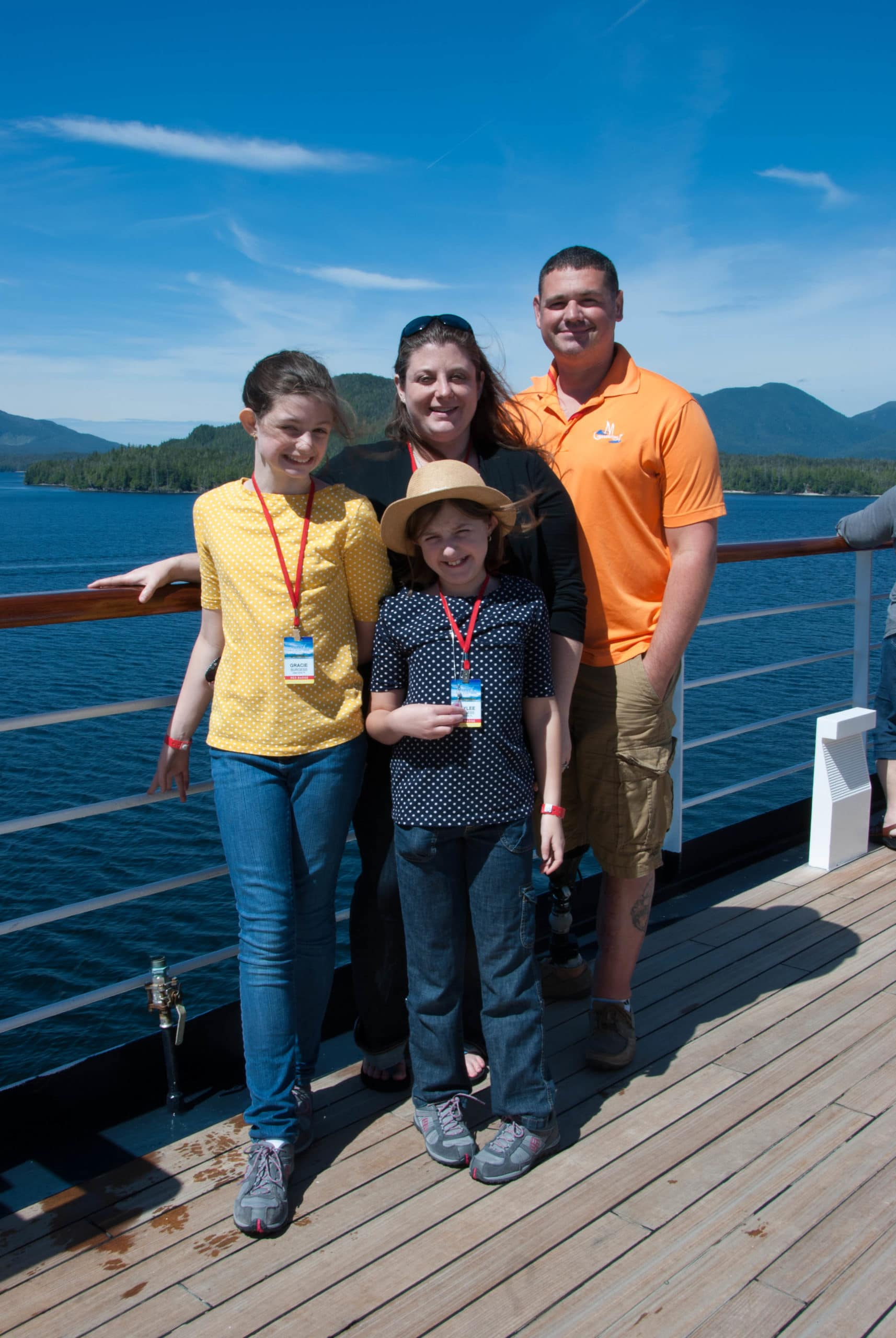 SSG Dan Burgess with his family during a Heroes Family Retreat in Alaska.