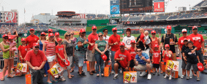 Veterans attend a Washington Nationals baseball game courtesy of the Freedom Alliance Rehab and Recovery Fund.