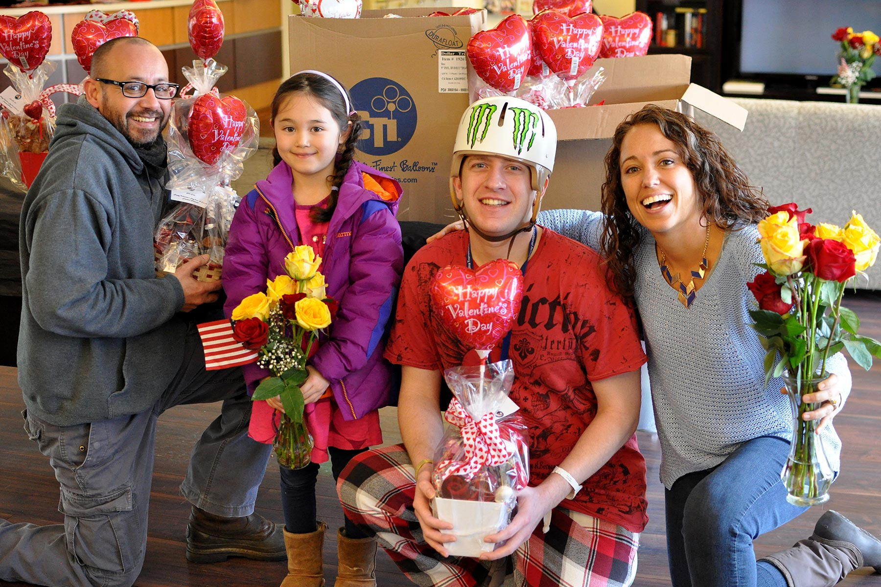 Valentine's day roses for our troops and their families.