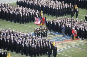 The colors are presented at the 2016 Army-Navy Game in Philadelphia, Pennsylvania.
