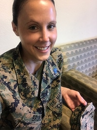 Marine Sergeant Andrea Bruns in Uniform