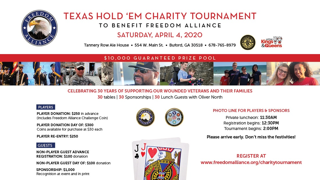 Texas Hold'em Tournament to Support Freedom Alliance